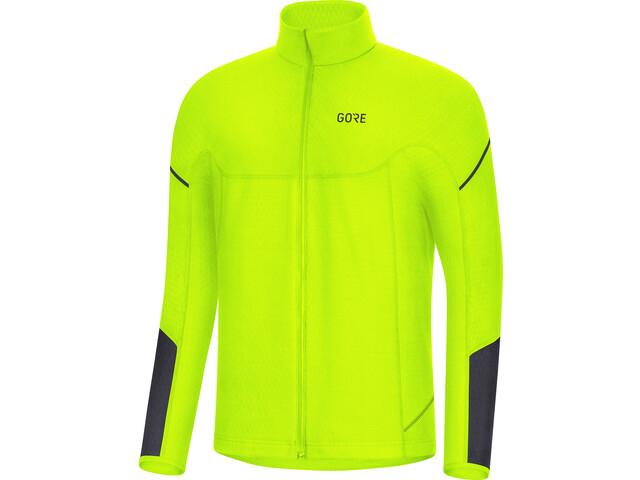 GORE WEAR M Thermo Langarm Zip Shirt Herren neon yellow/black